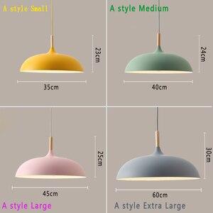 Image 2 - Lampe suspendue au design nordique, ampoules E27, idéal pour un Restaurant, un café, un Bar ou un macaron