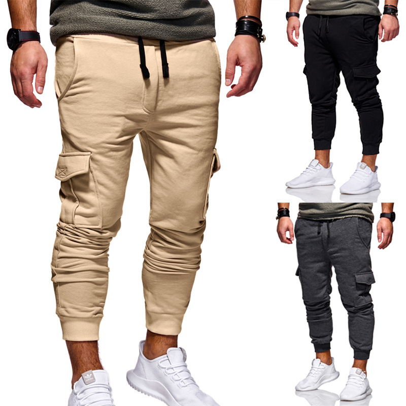2019 Autumn And Winter New Style Youth Men Casual Europe And America Draping Cutting/three-dimensional Cutting Stickers Pocket M