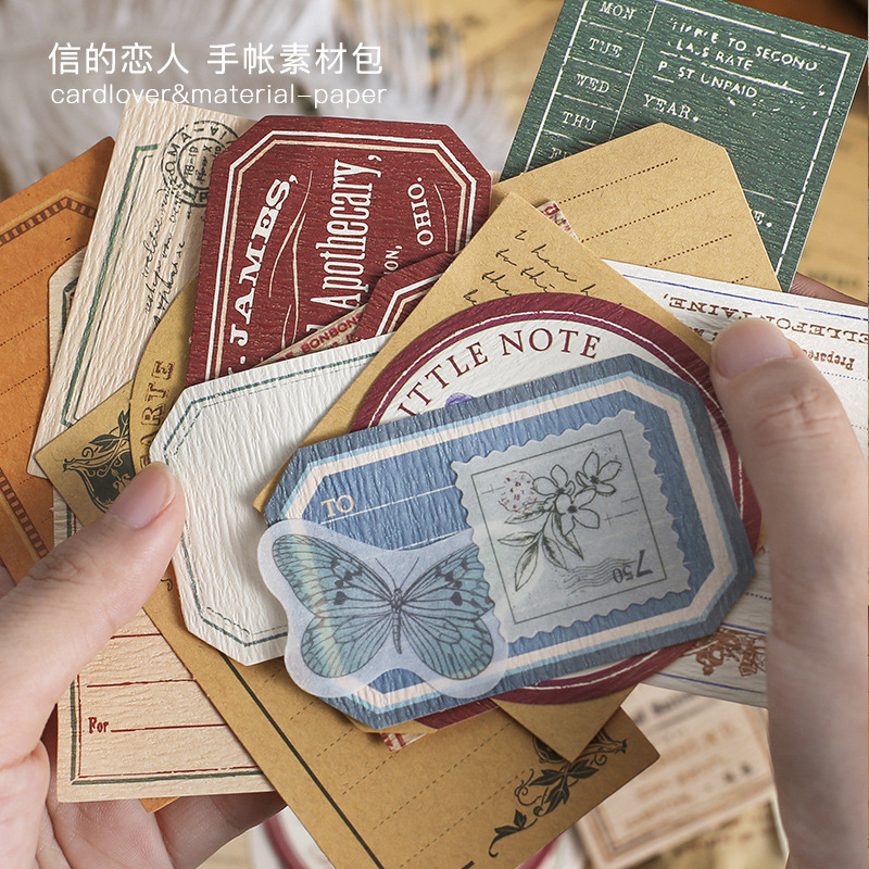 30 pièces/paquet rétro Impression Vintage autocollants faciles à poser décoratif Scrapbooking journal Album bâton étiquette