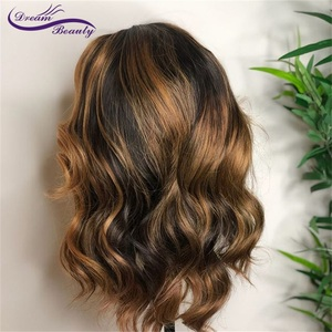 Image 4 - Highlight Lace Front Human Hair Wigs With Baby Hair 13*4/13*6 Remy Body Wave Lace Wig For Women