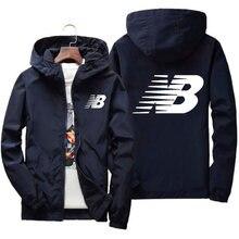 2021 spring new men's jacket jacket men's street windbreaker with hood zipper thin coat sports jacket men's casual jacket 7XL
