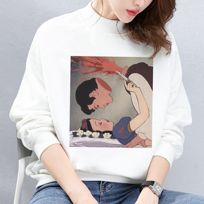 Autumn And Winter New Arrival 2019 Harajuku Vintage Spoof Princess Graphic Sweatshirts Aesthetic Funny Cartoon Hoody Female Tops