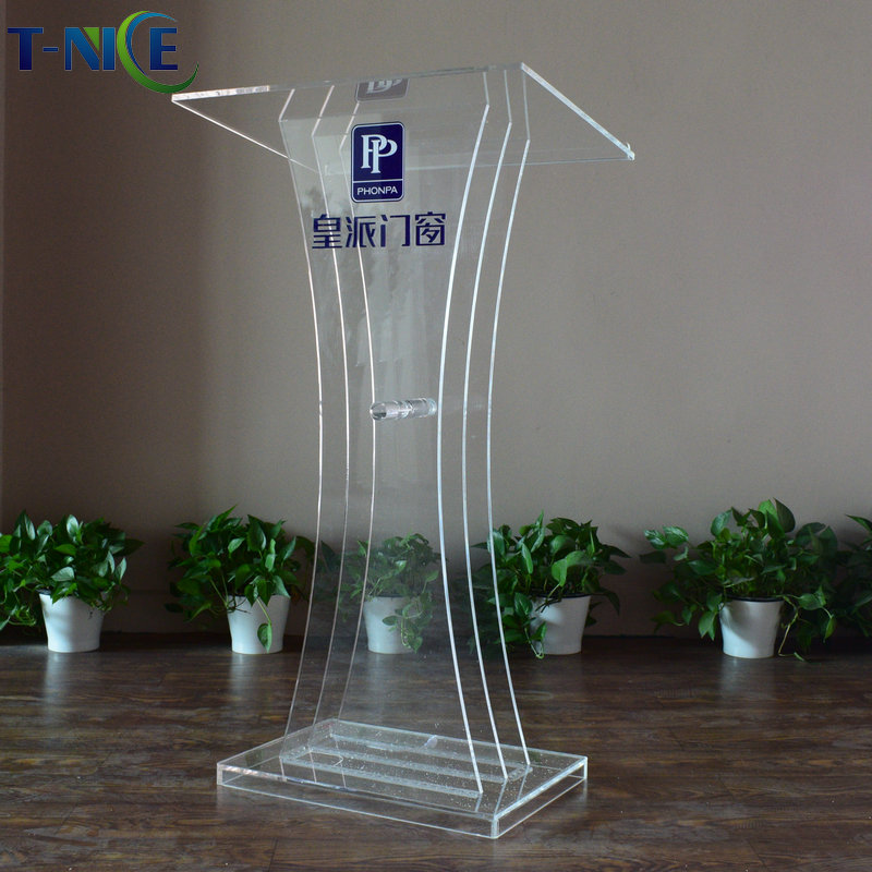 Best Seller Accept Customized Acrylic Church Pulpit SchoolFurniture Clear Podium AKLIKE Hot Sale Glass Lectern Plastic Table