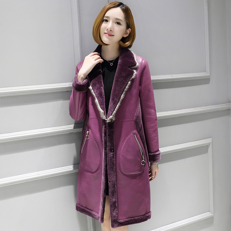 Real Genuine Leather JacketMink Fur Collar Wool Jacket Korean Vintage Sheepskin Coat Autumn Winter Coat Women Clothes 2020 T3505