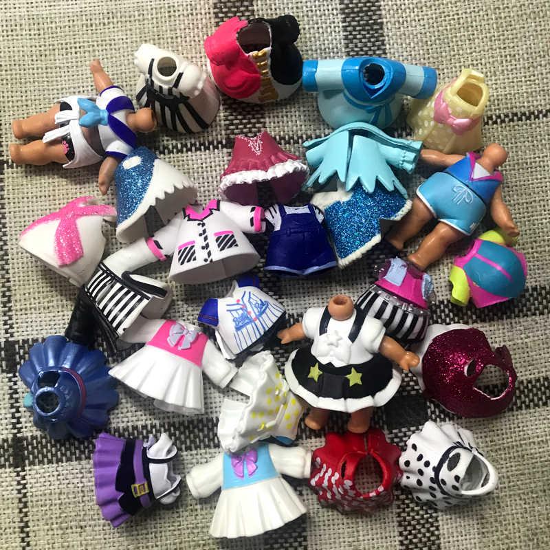 10 قطعة اكسسوارات أصلية ملابس لدمى lols المزيد من الأنماط اكسسوارات ألعاب شخصيات الحركة