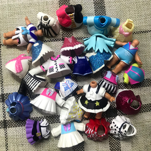 10pcs Original accessories clothes for lols dolls more styles accessories action figure toys(China)