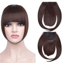 Grampo no cabelo bang extensão sintético resistência ao calor puro frente franja feminino meninas bonito natural cortina bnags