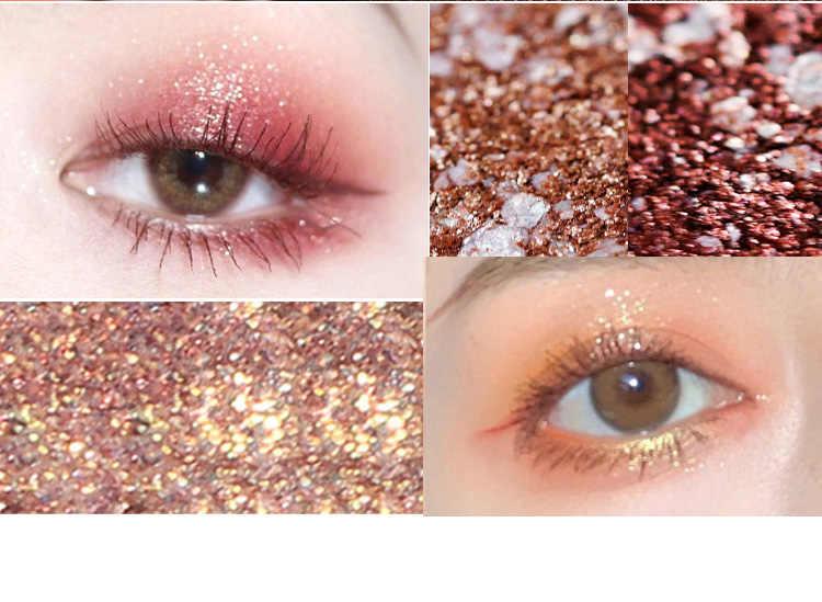 Eyeshadow Pallet Glitter Eye Shadow Mutiara Cahaya Flash Film Brilian Anti Air Flash Bubuk Berbohong Ulat TSLM1