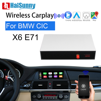 HaiSunny Wireless Carplay Retrofit For BMW X6 E71 MINI Support IOS OEM Screen Android Auto Navigation Car play NBT CIC System image