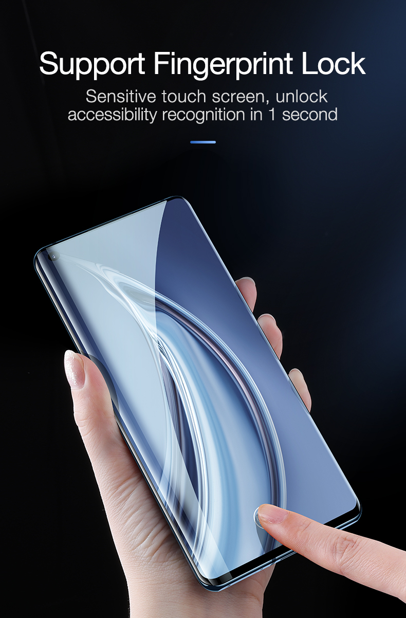 CAFELE 3D Full Coverage Tempered Glass for Xiaomi MI 10 Pro Screen Protector HD Clear Flim For Mi 10 10pro Anti Fingerprint