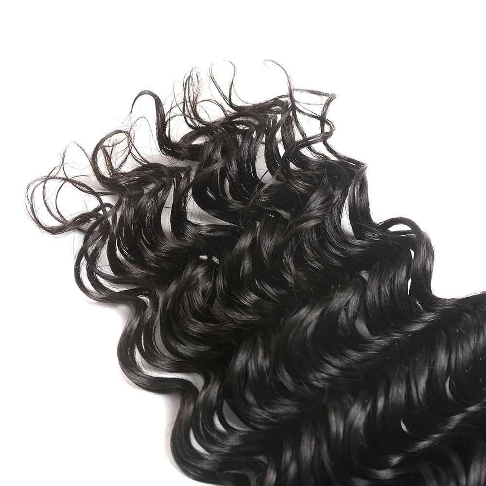 So Silk глубокая волна Кружева Закрытие 4x4 дюймов швейцарское кружево свободный/средний/три части не Реми бразильские волосы Закрытие с волосами младенца