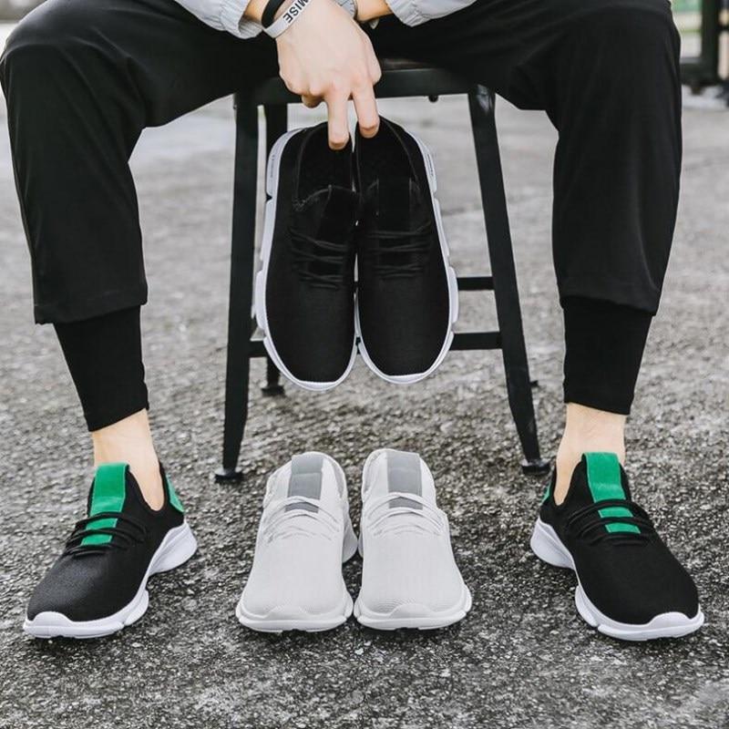 2019 Zomer Nieuwe Mannen Schoenen Lac up Mannen Casual Schoenen Lichtgewicht Comfortabele Ademend Paar Wandelen Sneakers Feminino Zapatos