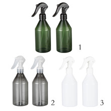 2Pcs Empty Refillable Pump Spray Bottle Hairdressing Plant Water Sprayer Makeup Cosmetic Storage Container 300ml(China)
