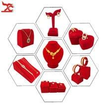 Качественный красный бархатный держатель для ювелирных изделий