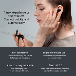 Image 2 - המניה שיאו mi אדום mi AirDots S שמאל = ימין פיגור נמוך מצב Mi אדום mi AirDots 2 TWS Bluetooth 5 אוזניות סטריאו אלחוטית אמיתית אוטומטי קישור