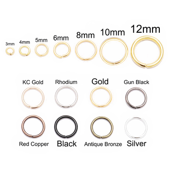 200pcs/lot 4 5 6 8 10 mm Jump Rings Silver Split Connectors For Diy Jewelry Finding Making Accessories Wholesale Supplies - discount item  20% OFF Jewelry Making