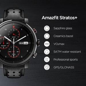 Image 2 - 2019 새로운 Amazfit Stratos + 전문 스마트 워치 정품 가죽 스트랩 선물 상자 사파이어 2S 안드로이드 iOS 전화 번호