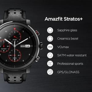 Image 2 - 2019 yeni Amazfit Stratos + profesyonel akıllı saat hakiki deri kayışı hediye kutusu safir 2S Android iOS telefon için