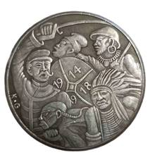 Germany 1918 Commemorative Coin He Fell Asleep Cheers Memories Coin Collection Home Decoration Crafts Souvenirs Gift