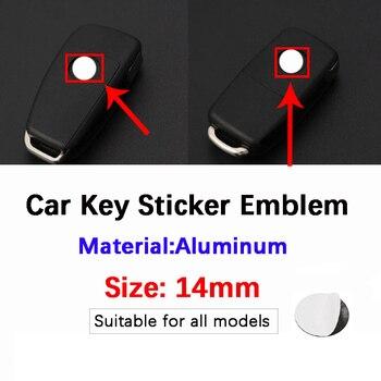 5pcs 14mm Car Key Sticker Emblem Logo For OPEL Mazda VW Toyota Peugeot Benz Opel Audi Ford Honda Skoda Mitsubishi Nissan BMW fashion metal car logo keychain key ring for lada hyundai chevrolet ford peugeot mitsubishi nissan vw honda toyota kia audi benz