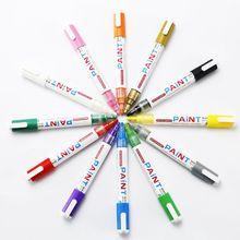 Водонепроницаемый маркер с перманентной краской ручка для автомобильных шин протектора Резина Металл Graffti канцелярские принадлежности 12 цветов LX9A