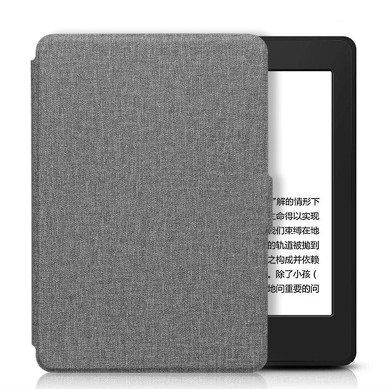 For All-New Kindle 2019 Case Cloth Texture PU Leather Smart Case PC Back Hard Cover for All-New Kindle 10th J9G29R 2019 Released-2