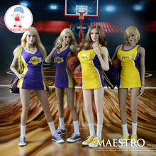 """1/6 Scale MSS001 Female Cheerleader Clothes  Basketball Shirt Clothing for 12"""" Action Figure Body Doll Toys"""