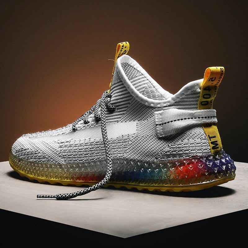 รองเท้าผู้ชาย 2019 รองเท้า Breathable รองเท้าผ้าใบตาข่ายรองเท้าสบายๆแฟชั่นผู้ชายรองเท้าลูกไม้ Lace Up ร...