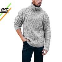 Толстый мужской свитер с высоким воротником 1