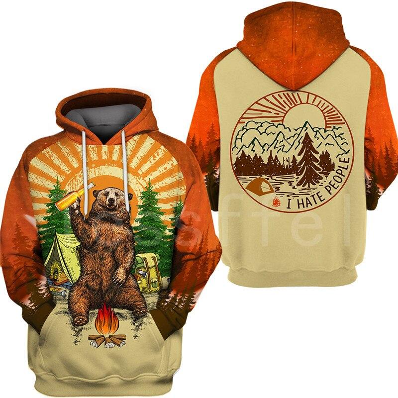 Tessffel Animal Bear Hunting I hate people Love Camping Funny NewFashion 3DPrint Zipper/Hoodies/Sweatshirts/Jacket/Men/Women S17