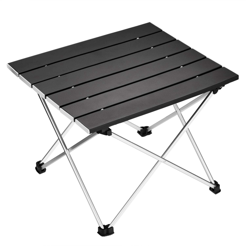 EASY-Portable Folding Camping Table Aluminum Desk Table Top Suitable For Outdoor Picnic Barbecue Cooking Holiday Beach Hiking Tr