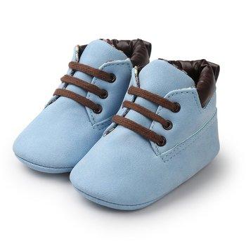 OUTAD dziecięce buty dziecięce dziecięce na co dzień ciepłe sznurowane płaskie buty jednokolorowe z miękkimi podeszwami buty dla nowonarodzonych chłopców i dziewcząt nowa wyprzedaż tanie i dobre opinie Spring Autumn Winter RUBBER Unisex Pasuje prawda na wymiar weź swój normalny rozmiar Wodoodporna Lace-up Stałe 24 m