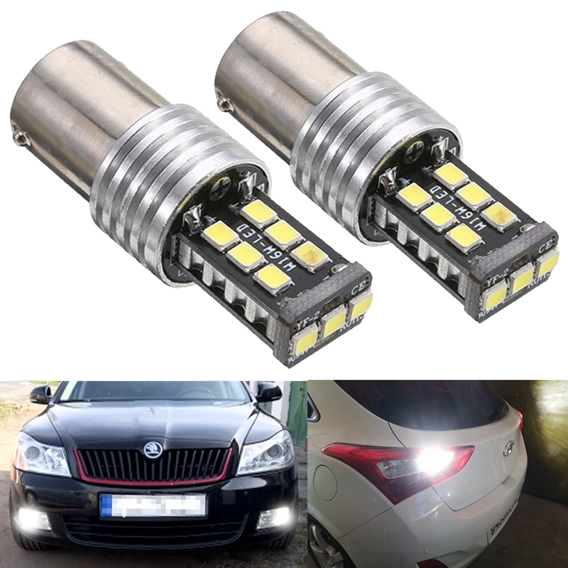 2x Canbus 1156 P21W BA15S <font><b>LED</b></font> Car Backup Reserve Light For <font><b>Skoda</b></font> Superb <font><b>Octavia</b></font> 2 A5 FL 2009 <font><b>2010</b></font> 2011 2012 2013 DRL <font><b>LED</b></font> Bulbs image