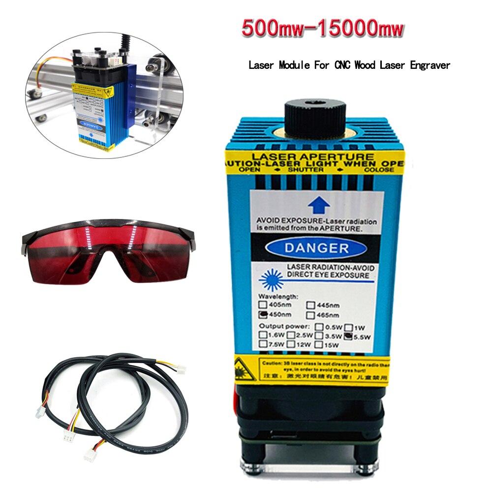 500mw - 15000mw Laser adjustable focus Laser Module For CNC Wood Laser Engraver DIY Laser Engraving Machines Cutting Accessories