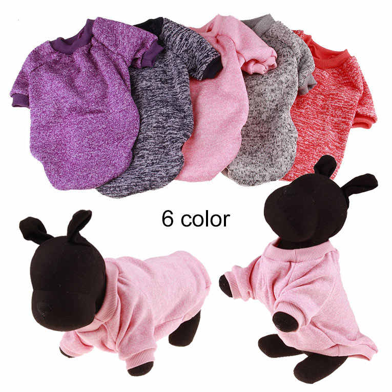 XS-2XL Winter Warm Dog Clothes Puppy Jacket Coat Soft Dog Shirts Pet Dog Costumes Puppy Sweater For Chihuahua 6 Colors P7Ding