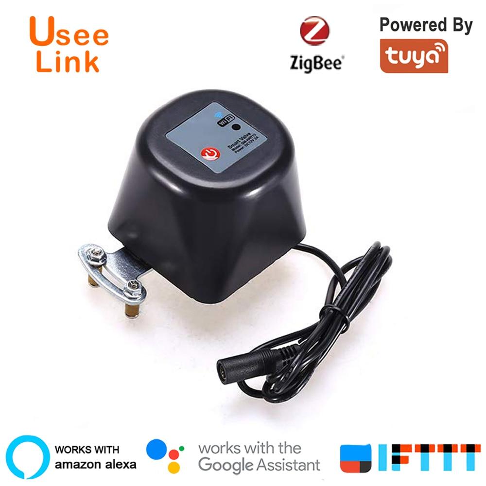 UseeLink Zigbee Valve Smart Water/Gas Valve Smart Home Automation Control Work With Alexa,Google Assistant,IFTTT Power By Tuya