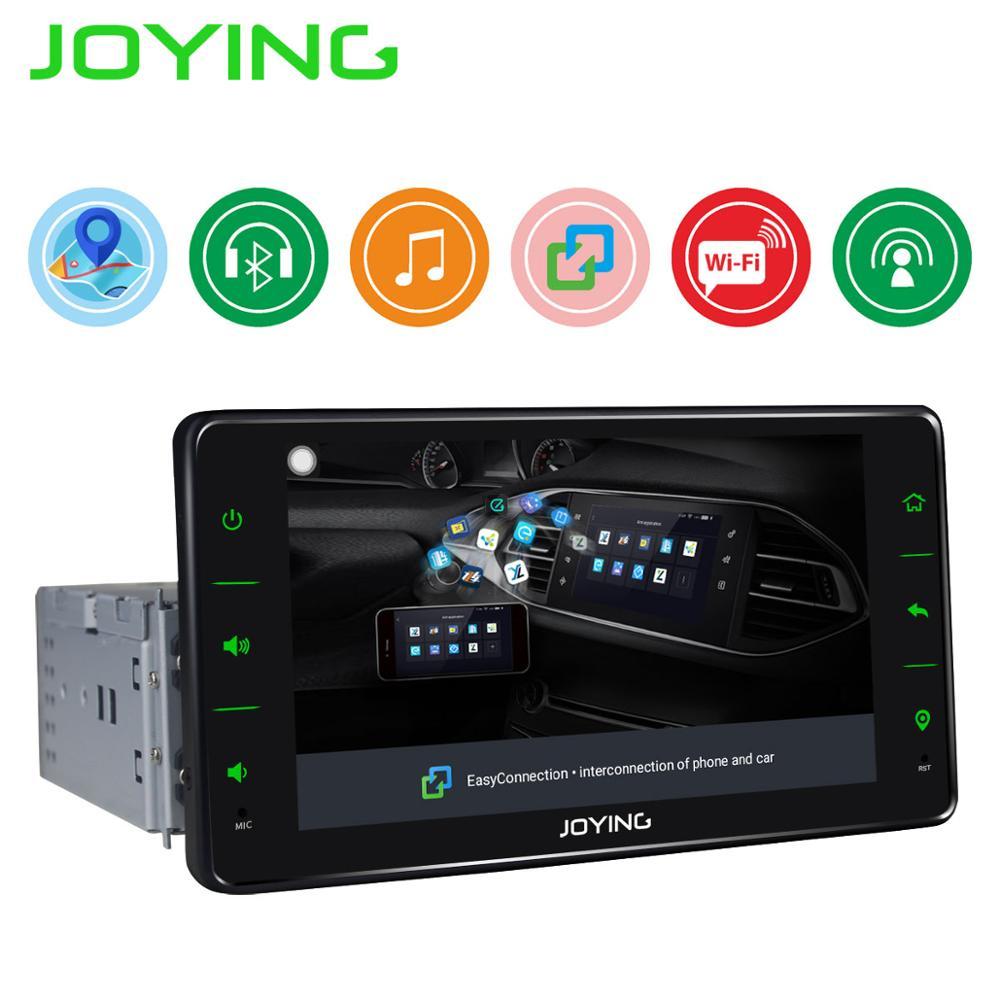 Автомобильный радио мультимедиа один 1 din Android 8,1 аудио плеер навигация GPS универсальный четырехъядерный 6,2 Авторадио с зеркальной связью