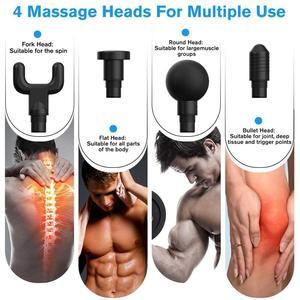 Image 5 - שרירים עיסוי אקדח ספורט טיפול לעיסוי גוף הרפיה כאב הקלה ההרזיה עיצוב Massag 4 ראשי עם תיק