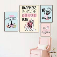 Современная женская модная холщовая картина розовый лак для