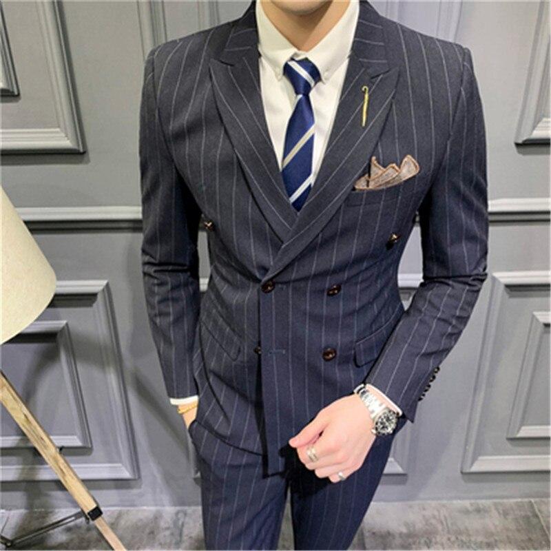 Купить мужские костюмы новинка 2020 двубортные приталенные 5xl takgirm