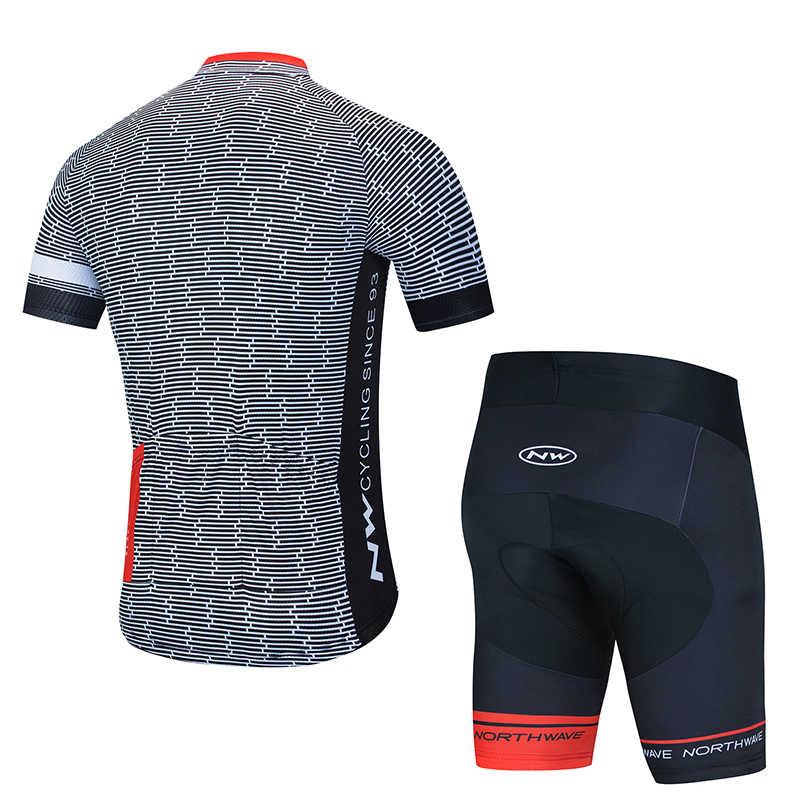 Koszulka rowerowa 2020 profesjonalne drużynowe NW koszulka kolarska zestaw letni oddychające sporty wyścigowe odzież rowerowa