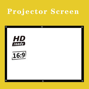 Projector Simple Curtain Anti-light Screen 60/72/84/100/120/150 Inches Home Outdoor Office Portable 3d HD Projector Screen
