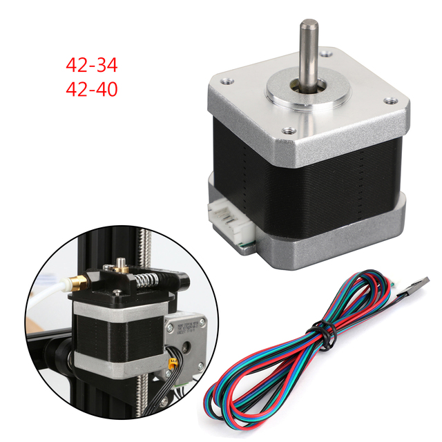 Areyourshop 3D Printer 42 40 42 34 X/Y/Z/E Stepper Motor For 3D Creality Ender 3 Pro CR 10