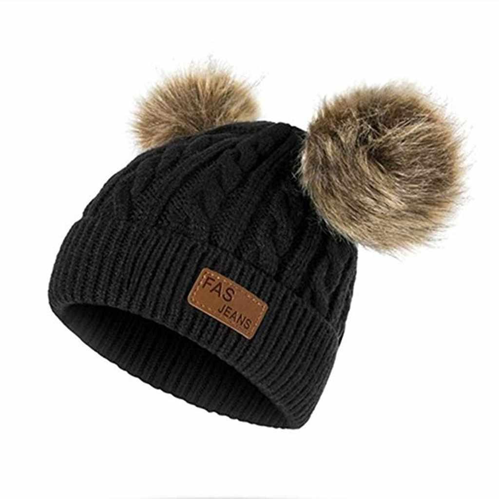 Gorro tejido de invierno para niñas y niños, gorra tejida para niños, gorros para fotografía de bebés, gorros czapka dzicri