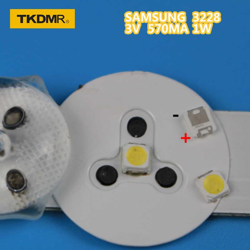 TKDMR 120 قطعة سامسونج LED الخلفية TT321A 1.5 واط 3 فولت 3228 2828 كول الأبيض LCD الخلفية لتطبيق التلفزيون التلفزيون spbwh1320s1evc1مريلة