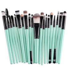 Juego de brochas de maquillaje, herramienta de lavado para maquillaje de ojos, base, sombra de ojos y otras herramientas cosméticas, 20 Uds.