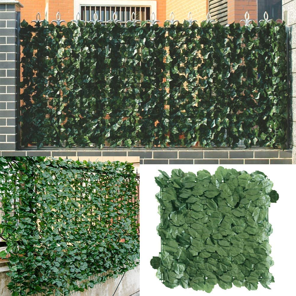 1*3M Artificial Privacy Fence Screen Faux Ivy Leaf Screening Hedge For Outdoor Indoor Decor Garden Backyard Patio Decoration