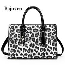 Luksusowe torby damskie marki wysokiej jakości skórzana torebka duża pojemność jedna torba na ramię kurierska modny wzór w cętki tote bag tanie tanio bajuxcn CN (pochodzenie) Na co dzień torebka WOMEN Versatile NONE Poliester Q0116 Leopard Kieszeń na telefon komórkowy