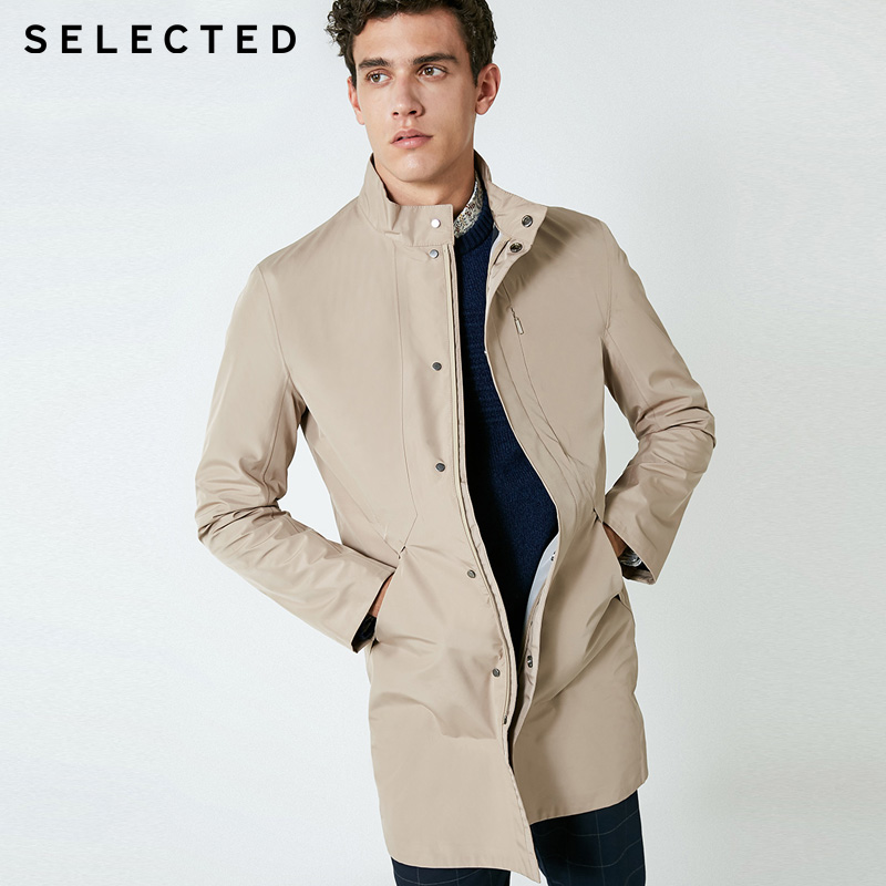 SELECTED Waterpoof Long-sleeved Business Trench  Coat  Jacket | 418321518