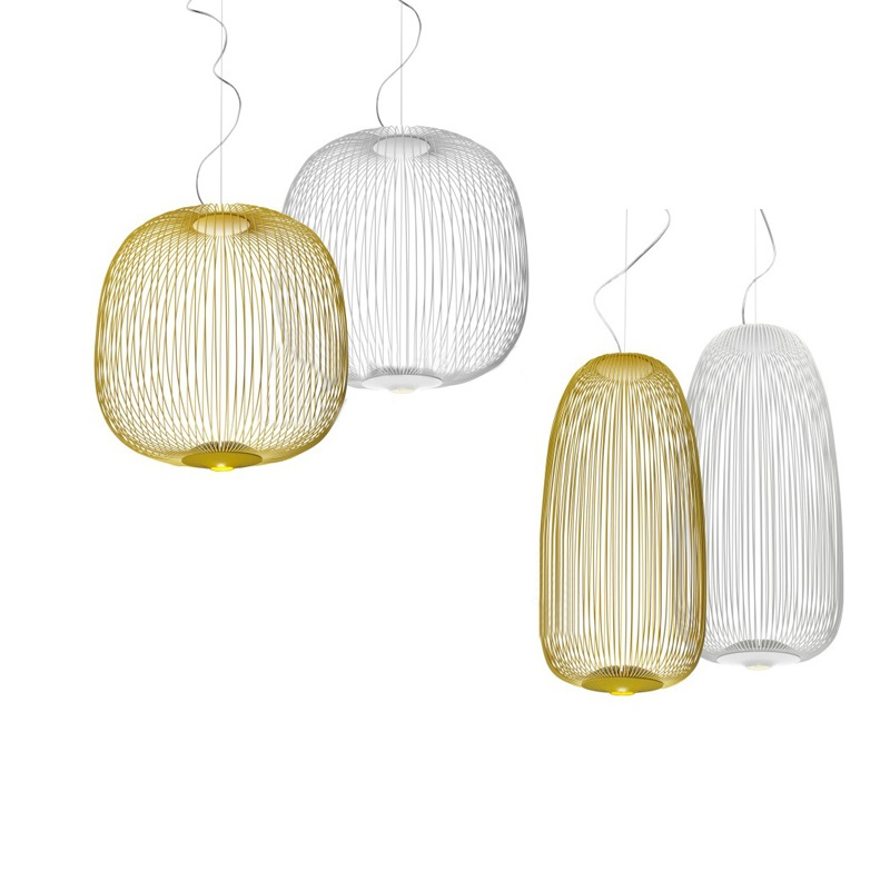 Modern Dimming Spokes 1/2 Chandelier Lighting Bird Cage Iron lustre Foscarini avize modern salon indoor lighting Fixtures